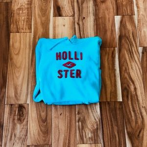 Hollister Co. Hoodie Teal and Red Large